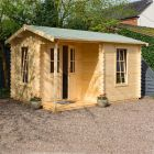 Garden Office Log Cabin 28mm 4.2m x 3.3m
