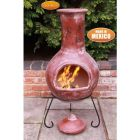 Gardeco Colima Extra Large Mexican Clay Chiminea Red