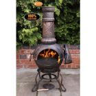 Gardeco Toledo Large Grapes Cast Iron Chiminea with BBQ Grill