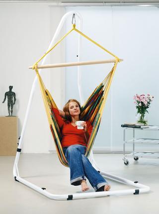 Luna white hanging chair frame