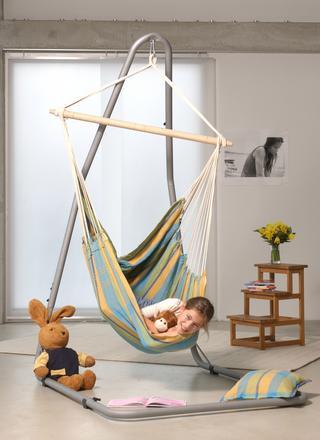 Luna silver hanging chair frame