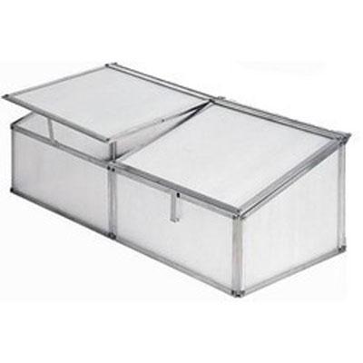 Silver Aluminium Cold Frame 3x2 Polypropylene (Single)